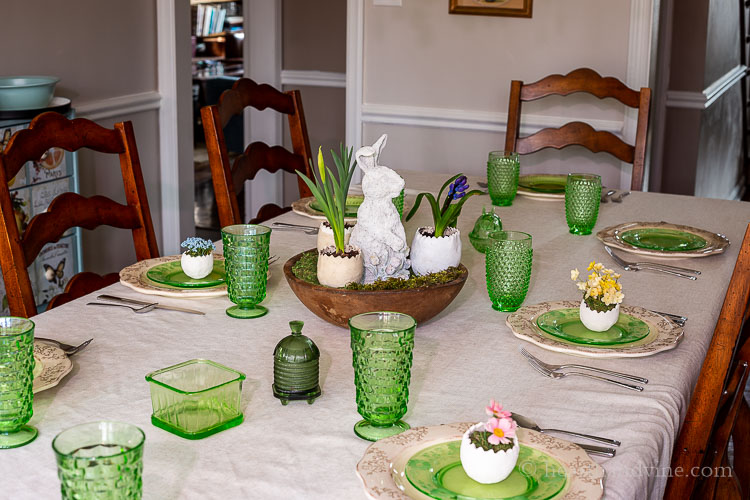 Decorated Easter table