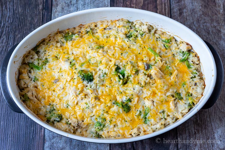 Baked chicken broccoli and rice casserole
