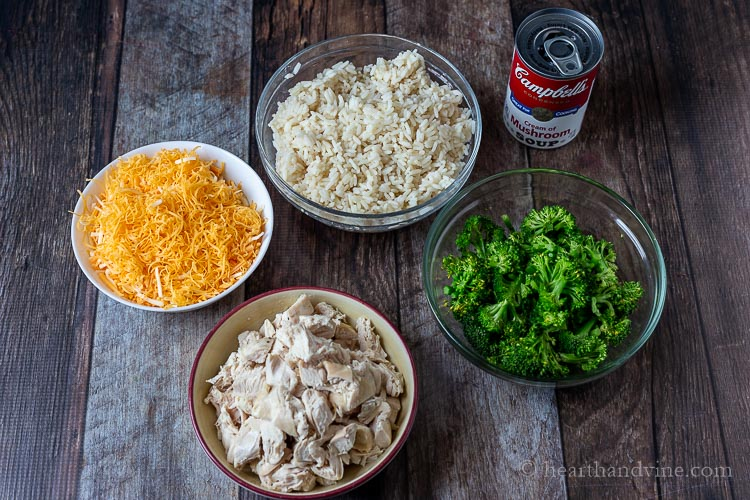 Chicken broccoli rice casserole ingredients