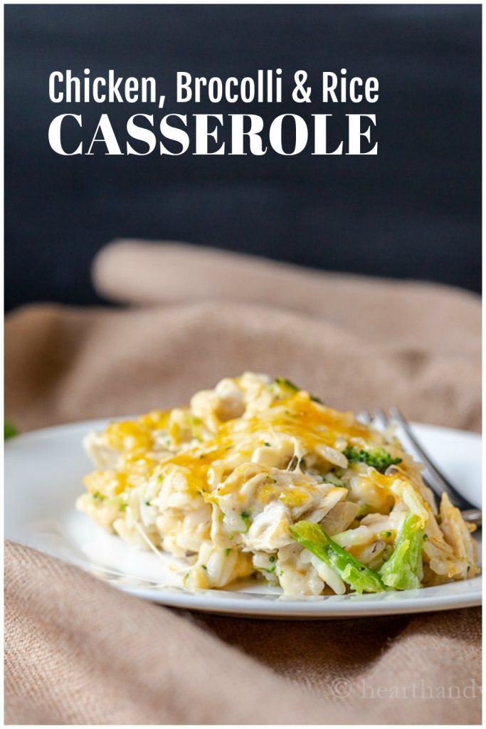 Chicken broccoli and rice casserole serving