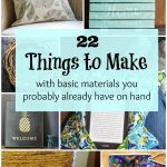 Easy projects for down time collage