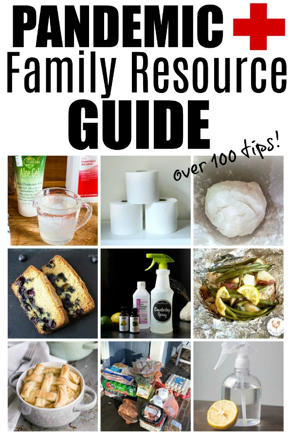 Pandemic family resource guide collage