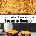 Swirled cheesecake and chocolate brownies