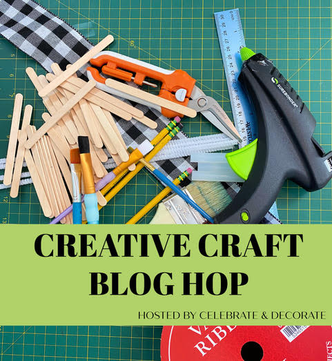 Creative craft blog hop graphic