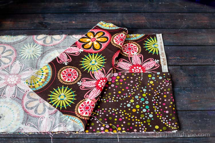 Preparing fabric pieces for sewing