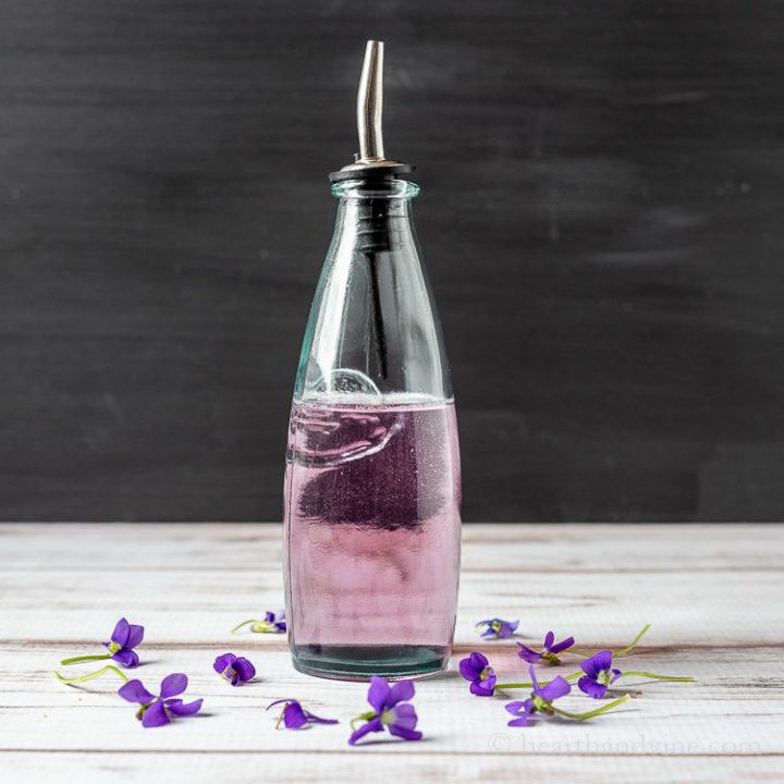 Lavender wild violet syrup