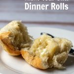 Homemade dinner roll with butter