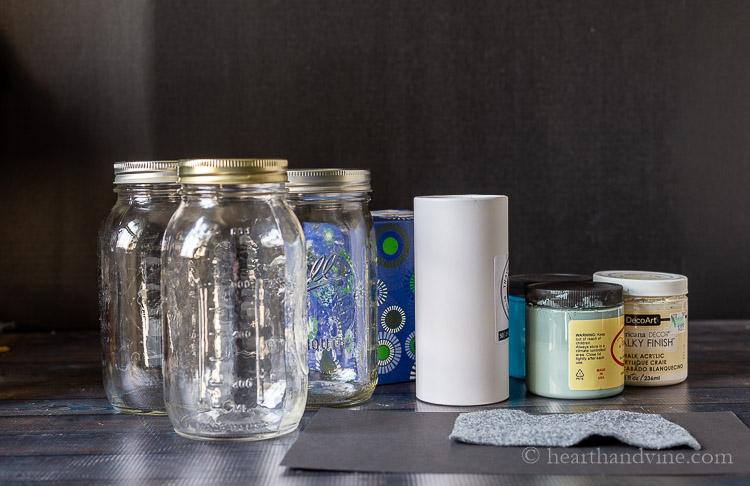 Mason jar tissue holder supplies