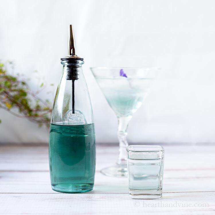 Blue violet syrup