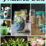 Collage of mason jar crafts with text overlay