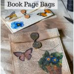 Two book page bags with text overlay