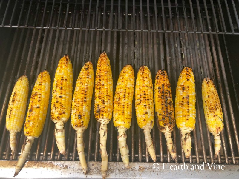 Grilled several ears of corn.