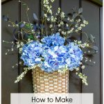 "Floral basket wreath with text overlay ""How to Make a Floral Basket Wreath"""