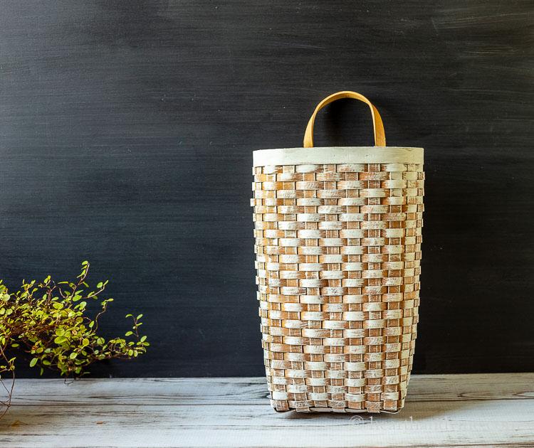 Whitewashed basket