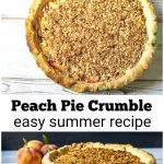 Peach pie crumble top view and one of the side.