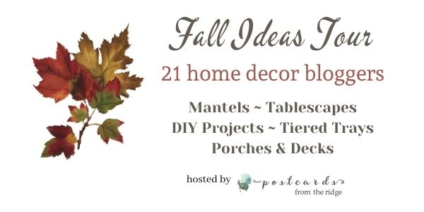 Graphic for fall ideas tour blogger hop.
