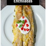 A serving of spinach enchiladas on a plate.