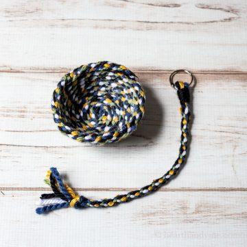 Loom wheel bowl and keychain