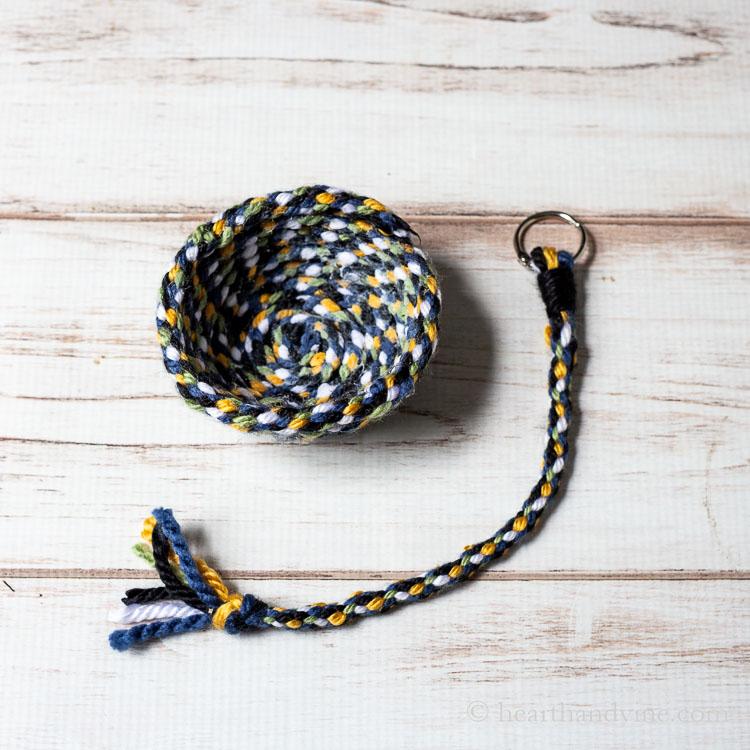 Yarn bowl and keychain.