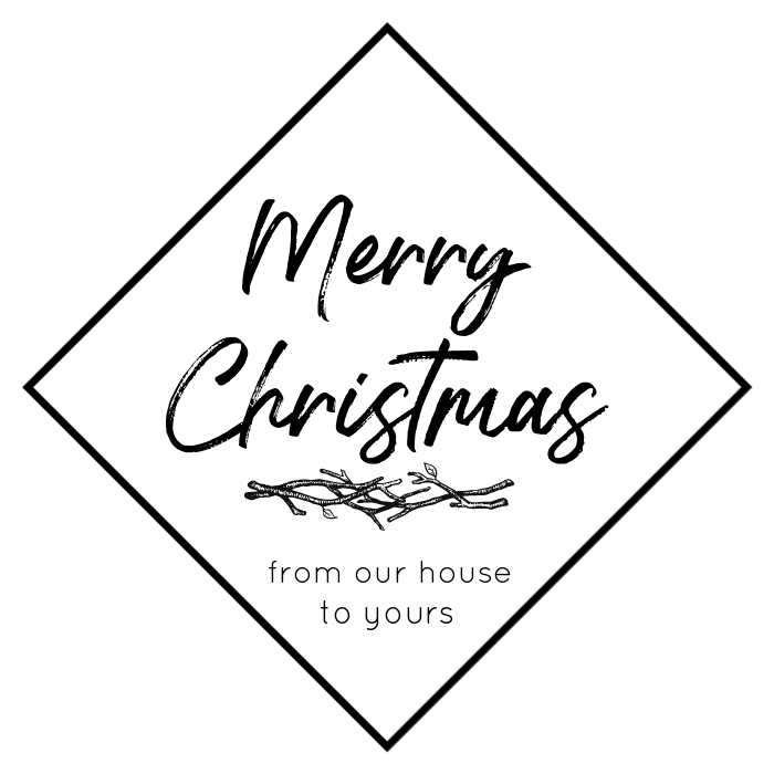 Merry Christmas graphic for tag making.