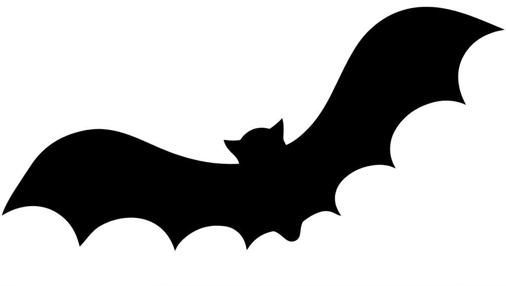 Black bat silhouette.