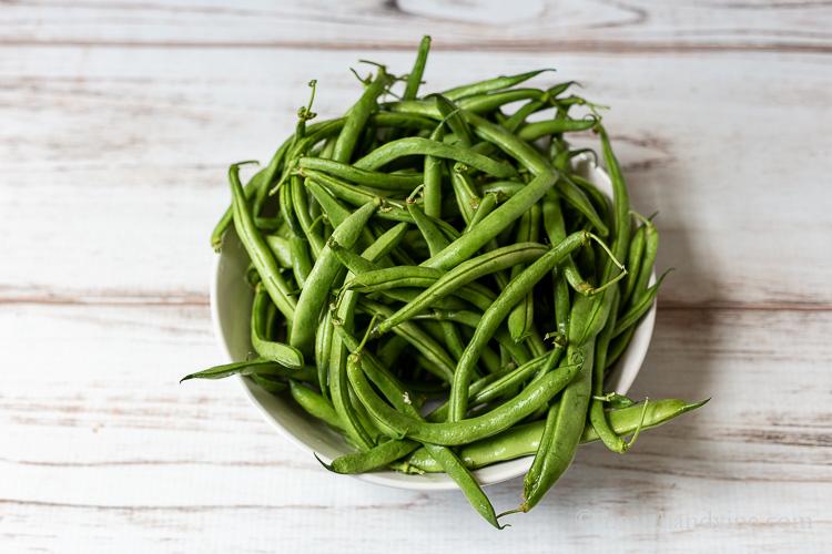 Fresh string beans.
