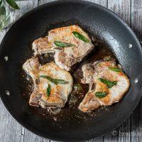 Skillet Pork Chops with Sage Butter