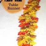 Faux fall leaves table runner
