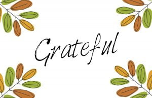 Grateful graphic to print out as cards to write on.