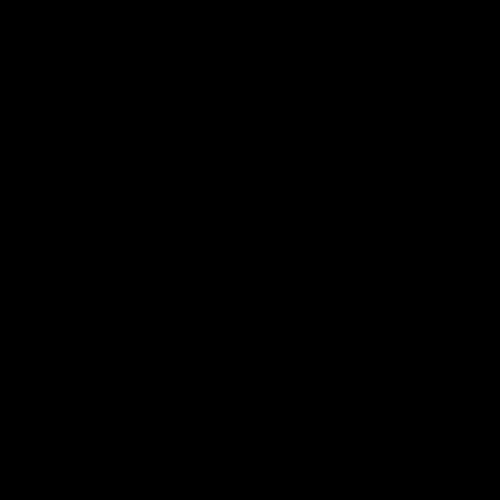 Silhouette of a black raven