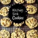 Kitchen sink cookies on a cooking rack