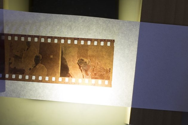 Digitizing negatives with iphone light and blocks