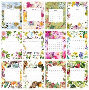 12 Calendars for 2021