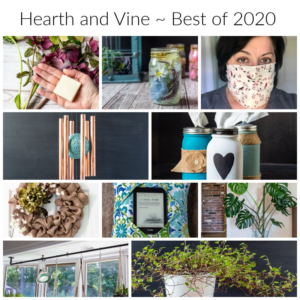 Collage of the top readers' favorites from Hearth and Vine in 2020.