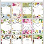 Month at a glance 2021 calendars
