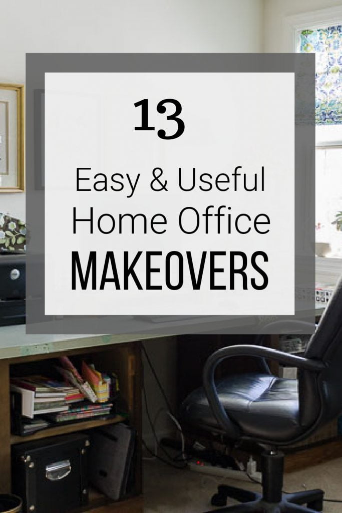 Home office desk with text overlay easy and useful home office makeovers.