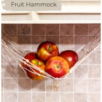 Under the cabinet fruit hammock with apples