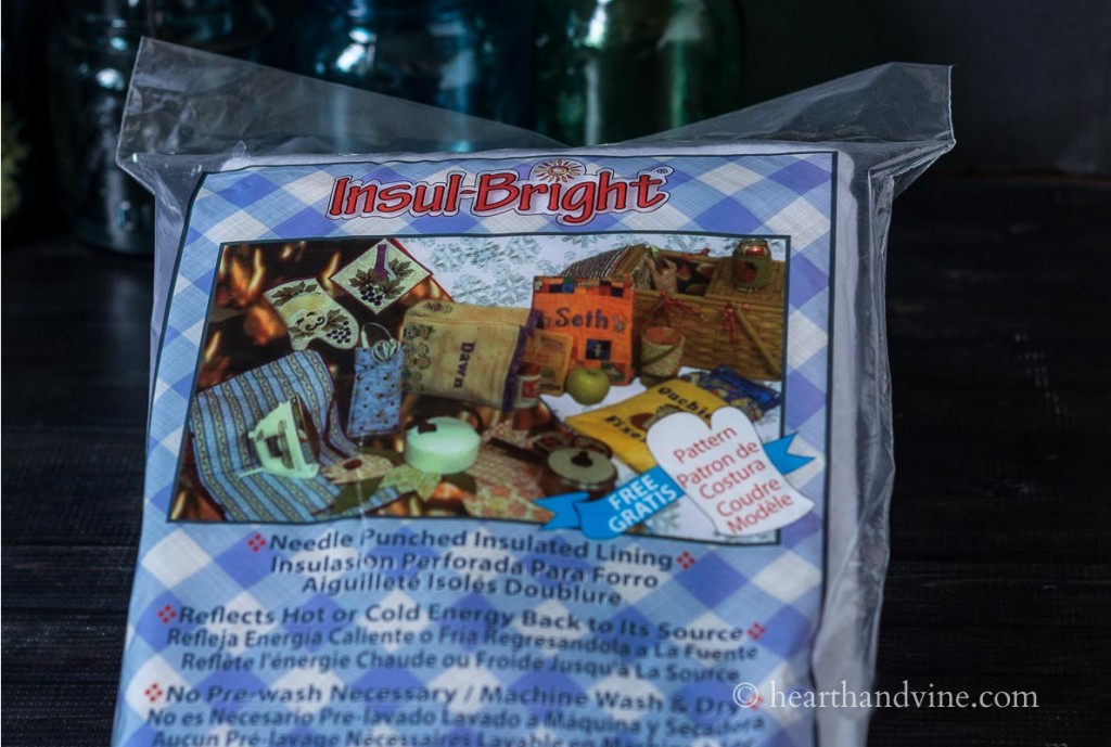 Insul-Bright bag for insulation.
