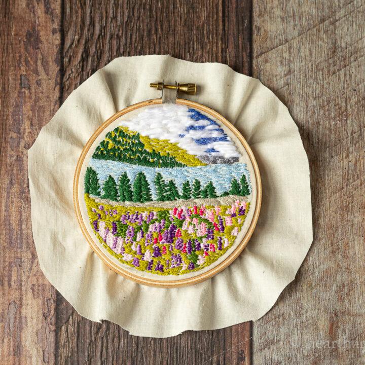 Landscape Embroidery Hoop Art