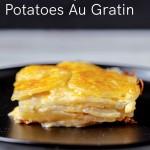 Serving of potatoes au gratin.