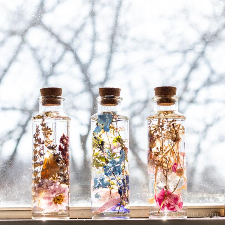 How to Make Japanese Herbarium Bottles