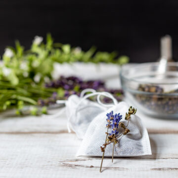 Herbal dream pillow bag with lavender.