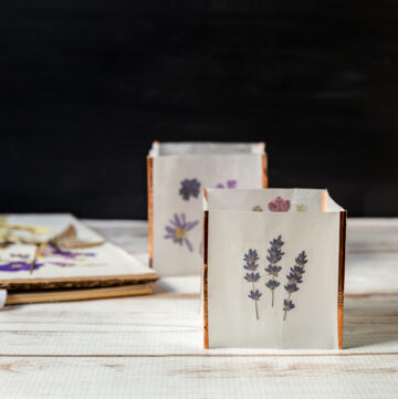 Pressed lavender luminaria