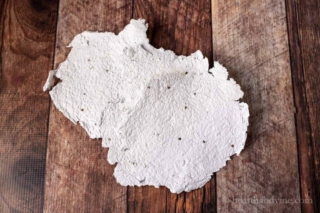 Dried seed paper.