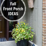 Fall front porch side decorations