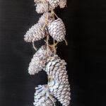 Bleach look pinecone garland.