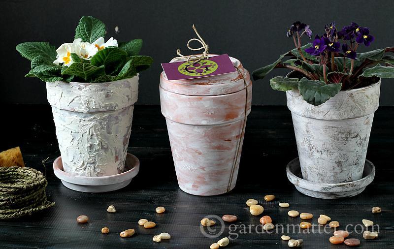 3 ways to age pots - gardenmatter.com