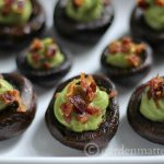 Low Carb Mushrooms Stuffed with Avocado Cream