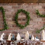 Wire Hanger Boxwood Letters for a Joyful Holiday Mantel