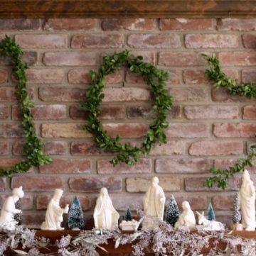 Wire Hanger Boxwood Letters ~ gardenmatter.com